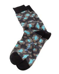 Черные носки с принтом