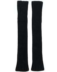 Мужские черные перчатки от Balmain