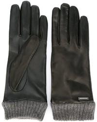 Женские черные перчатки от Diesel
