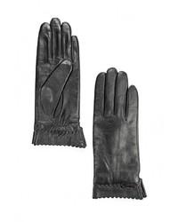Женские черные перчатки от Fabretti