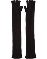 Женские черные перчатки от Maison Margiela