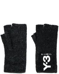Мужские черные перчатки от Y-3