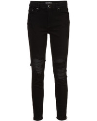Черные рваные джинсы скинни от Amiri