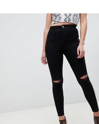 Черные рваные джинсы скинни от ASOS DESIGN