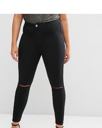 Женские черные рваные джинсы скинни от Asos