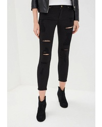 Черные рваные джинсы скинни от Silvian Heach