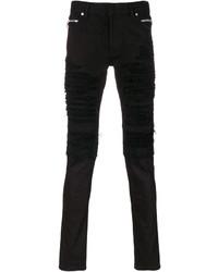 Мужские черные рваные джинсы от Balmain