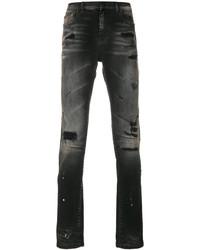 Мужские черные рваные джинсы от Faith Connexion