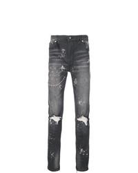 Мужские черные рваные джинсы от God's Masterful Children