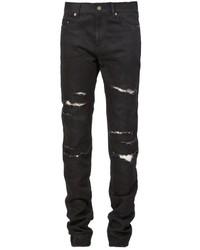 Мужские черные рваные джинсы от Saint Laurent