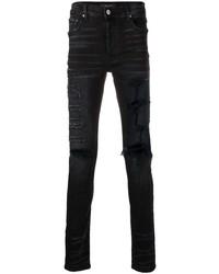 Мужские черные рваные зауженные джинсы от Amiri