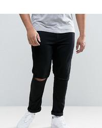 Мужские черные рваные зауженные джинсы от Asos