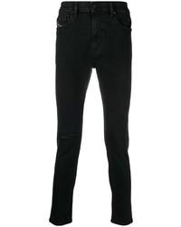 Мужские черные рваные зауженные джинсы от Diesel
