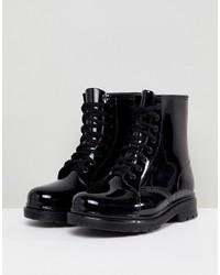Женские черные резиновые сапоги от Glamorous