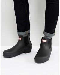 Мужские черные резиновые сапоги от Hunter