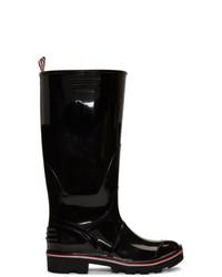 Женские черные резиновые сапоги от Thom Browne