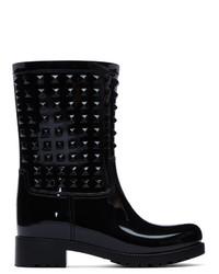 Женские черные резиновые сапоги от Valentino