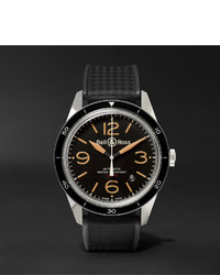 Мужские черные резиновые часы от Bell & Ross