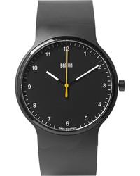 Мужские черные резиновые часы от Braun