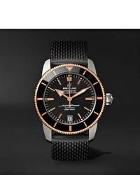 Мужские черные резиновые часы от Breitling