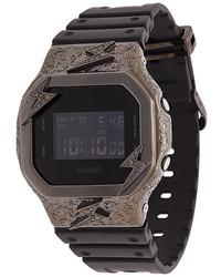 Мужские черные резиновые часы от Eyefunny