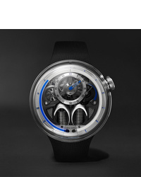 Мужские черные резиновые часы от HYT