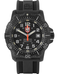 Мужские черные резиновые часы от Luminox