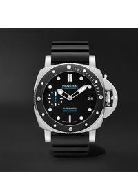 Мужские черные резиновые часы от Panerai