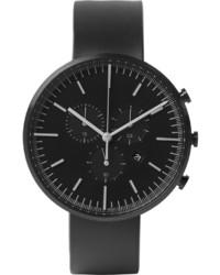Мужские черные резиновые часы от Uniform Wares
