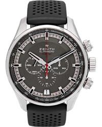Мужские черные резиновые часы от Zenith