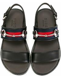 Детские черные сандалии для мальчиков