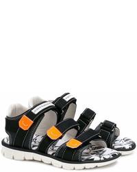 Детские черные сандалии для мальчику от John Galliano