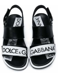 Детские черные сандалии для мальчиков от Dolce & Gabbana