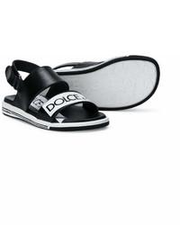 Детские черные сандалии для мальчику от Dolce & Gabbana