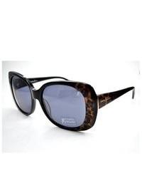 Черные солнцезащитные очки с леопардовым принтом