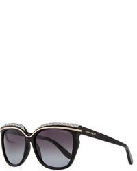 Черные солнцезащитные очки с украшением