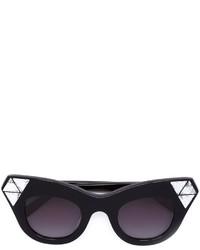 Женские черные солнцезащитные очки с украшением от Vera Wang