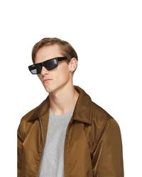 Мужские черные солнцезащитные очки от Dries Van Noten