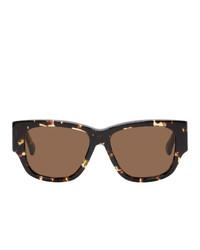Женские черные солнцезащитные очки от Bottega Veneta