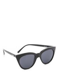 Женские черные солнцезащитные очки от Le Specs