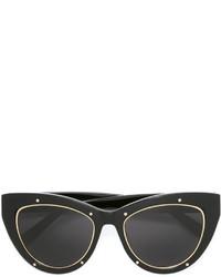 Женские черные солнцезащитные очки от MCM