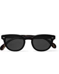 Мужские черные солнцезащитные очки от Oliver Peoples