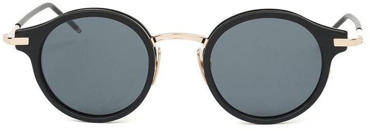 Мужские черные солнцезащитные очки от Thom Browne