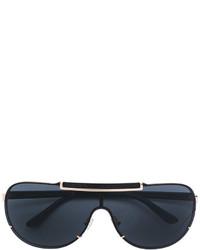 Женские черные солнцезащитные очки от Versace