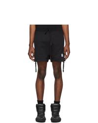 Черные спортивные шорты