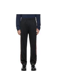 Мужские черные спортивные штаны с вышивкой от Gucci
