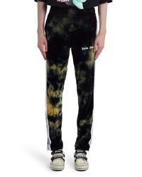 Черные спортивные штаны с принтом тай-дай