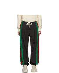 Мужские черные спортивные штаны от Gucci