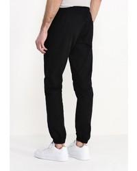 Мужские черные спортивные штаны от Topman