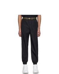 Мужские черные спортивные штаны от Versace Underwear